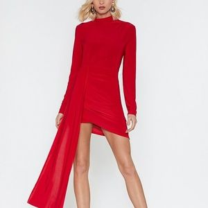 Nasty Gal Drop the News Ruched Mini Dress